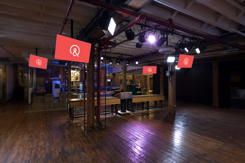Midtown Video provided 8 cameras, lighting, audio, and live streaming capability for the Quirky television studio.