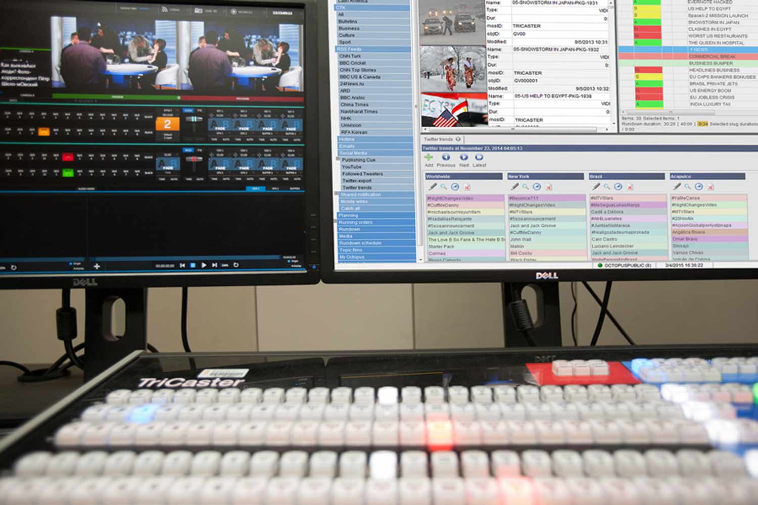 Tricaster and octopus